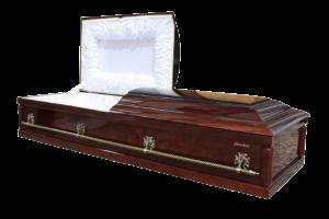 Гроб элитный двухкрышечный